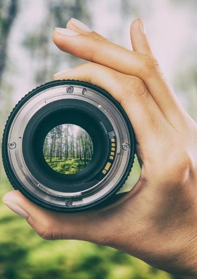 Fotoobjektiv für Naturfotografie